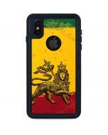 The Lion of Judah Rasta Flag iPhone X Waterproof Case