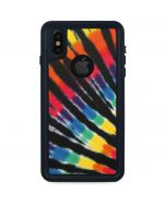 Tie Dye - Rainbow iPhone XS Waterproof Case