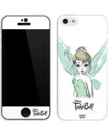 Tinker Bell Watercolor Fairy iPhone 5c Skin