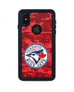 Toronto Blue Jays Digi Camo iPhone XS Waterproof Case