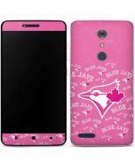 Toronto Blue Jays Pink Cap Logo Blast ZTE ZMAX Pro Skin