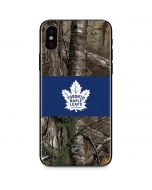 Toronto Maple Leafs Realtree Xtra Camo iPhone XS Skin