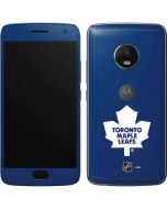 Toronto Maple Leafs Solid Background Moto G5 Plus Skin