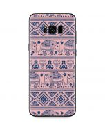 Tribal Elephant Pink Galaxy S8 Skin