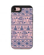 Tribal Elephant Pink iPhone 7 Wallet Case