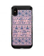 Tribal Elephant Pink iPhone X Cargo Case