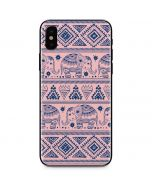 Tribal Elephant Pink iPhone X Skin