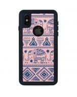 Tribal Elephant Pink iPhone X Waterproof Case