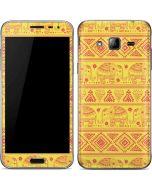 Tribal Elephant Yellow Galaxy J3 Skin