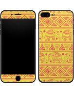 Tribal Elephant Yellow iPhone 7 Plus Skin