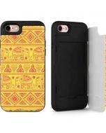 Tribal Elephant Yellow iPhone 7 Wallet Case