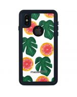 Tropical Leaves and Citrus iPhone XS Waterproof Case