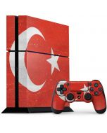 Turkish Flag Distressed PS4 Console and Controller Bundle Skin