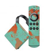 Turquoise and Orange Marble Amazon Fire TV Skin