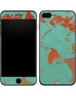 Turquoise and Orange Marble iPhone 7 Plus Skin