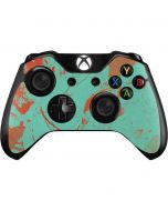 Turquoise and Orange Marble Xbox One Controller Skin