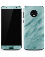 Turquoise Marble Moto G6 Skin