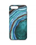 Turquoise Watercolor Geode iPhone 7 Plus Pro Case