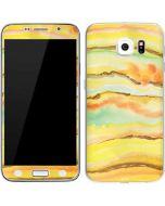 Tuscan Sun Watercolor Geode Galaxy S6 Skin