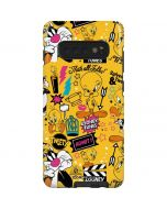 Tweety and Sylvester Patches Galaxy S10 Plus Pro Case