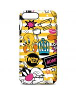 Tweety and Sylvester Striped Patches iPhone 7 Plus Pro Case