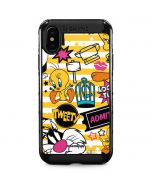Tweety and Sylvester Striped Patches iPhone XS Max Cargo Case