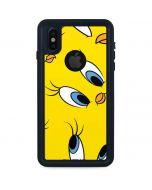 Tweety Bird Super Sized Pattern iPhone XS Waterproof Case