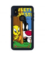 Tweety Bird Sylvester Ten Cents iPhone XS Waterproof Case