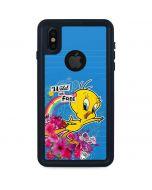 Tweety Bird Wild and Free iPhone XS Waterproof Case