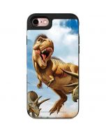 Tyrannosaurus Rex Fighting with Two Triceratops iPhone 7 Wallet Case