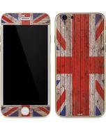 United Kingdom Flag Dark Wood iPhone 6/6s Skin