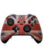 United Kingdom Flag Dark Wood Xbox One Elite Controller Skin
