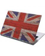United Kingdom Flag Dark Wood Yoga 910 2-in-1 14in Touch-Screen Skin