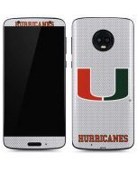 University of Miami Mesh Moto G6 Skin