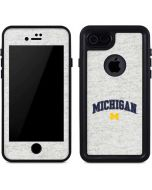 University of Michigan Heather Grey iPhone 8 Waterproof Case
