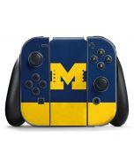 University of Michigan Logo Nintendo Switch Joy Con Controller Skin