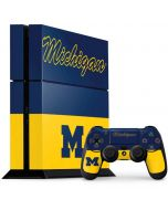 University of Michigan Split PS4 Console and Controller Bundle Skin