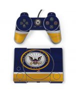 US Navy Striped PlayStation Classic Bundle Skin