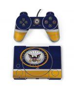US Navy Striped PlayStation Classic Bundle Skin