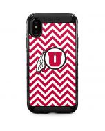 Utah Chevron Print iPhone XS Max Cargo Case