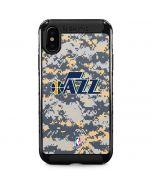 Utah Jazz Grey Digi Camo iPhone XS Max Cargo Case