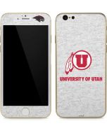 Utah Utes Distressed iPhone 6/6s Skin