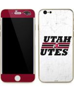 Utah Utes Italicized iPhone 6/6s Skin