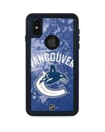 Vancouver Canucks Frozen iPhone XS Waterproof Case