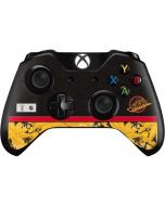 Vancouver Canucks Retro Tropical Print Xbox One Controller Skin