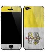 Vatican City Flag Distressed iPhone 5/5s/SE Skin