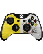 Vatican City Flag Distressed Xbox One Controller Skin