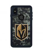 Vegas Golden Knights Camo iPhone X Waterproof Case