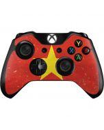 Vietnam Flag Distressed Xbox One Controller Skin