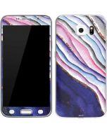 Violet Watercolor Geode Galaxy S6 Skin